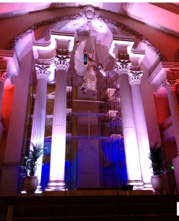Angel Gabriel - 19 ft sculpture - Patrick Cunningham - Legacy Fine Art Gallery