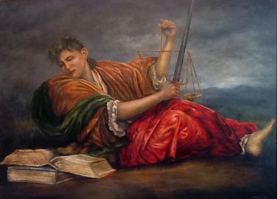 Allegory of Justice - Patrick Cunningham - Legacy Fine Art Gallery