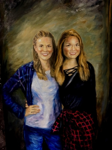 Brandy and Ryan portrait by Patrick Cunningham - Legacy Fine Art Gallery