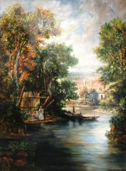 Fishing on Bear Creek - Patrick Cunningham - Legacy Fine Art Gallery