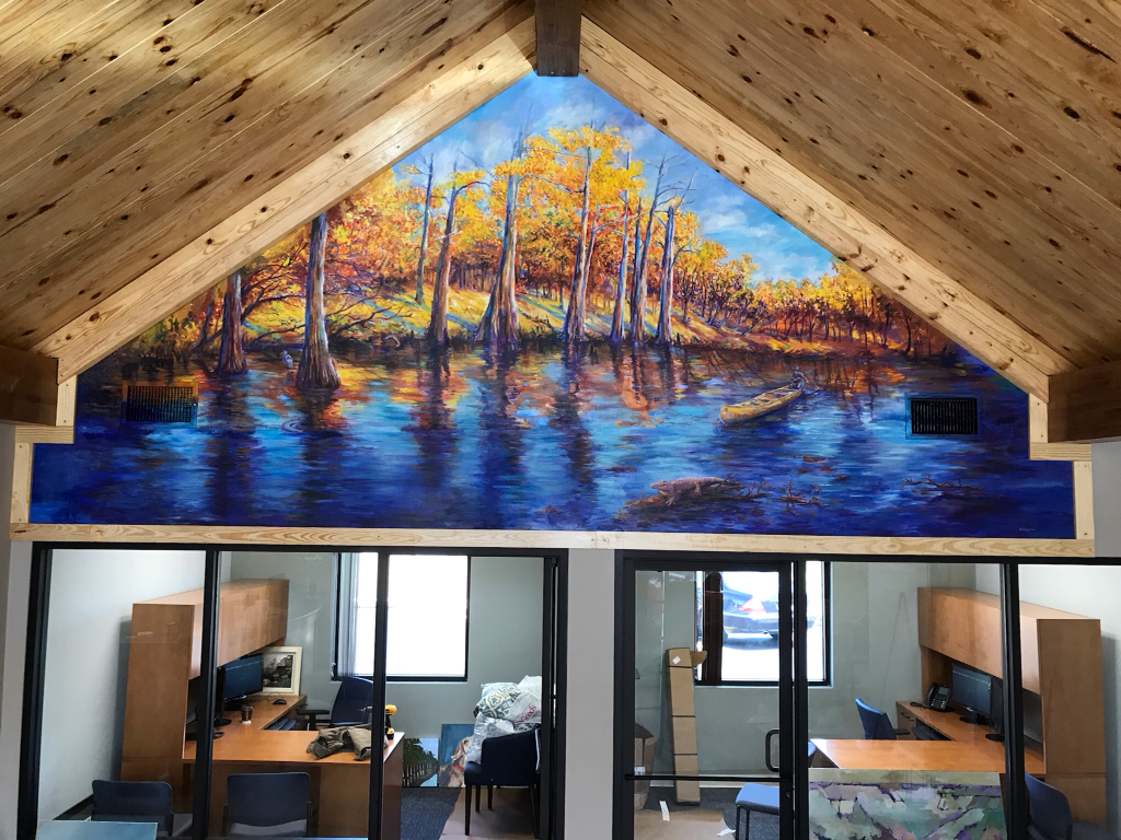 Commissioned bank mural - Patrick Cunningham